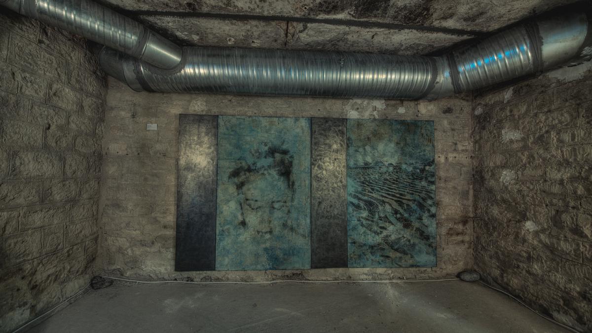 Exposition Christine Barbe dans l'Abri du Patio en novembre 2012