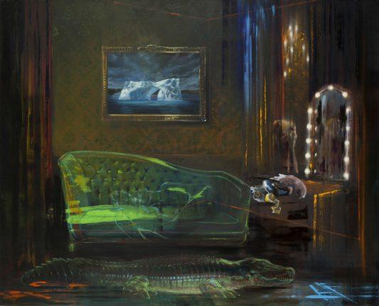Olivier Masmonteil Untitled, 2013 Huile sur toile 210 x 260 cm Courtesy Galerie Dukan © Hugo Miserey