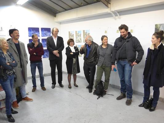 Exposition 5X2 dans l'atelier de Michael Woolworth – 2016